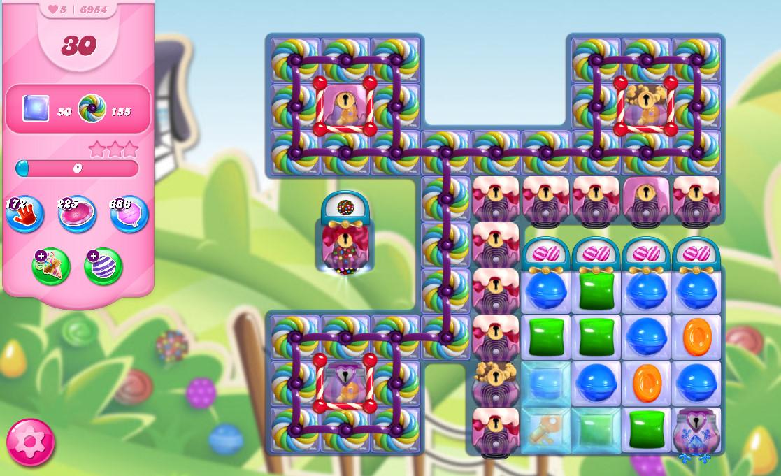 Candy Crush Saga level 6954
