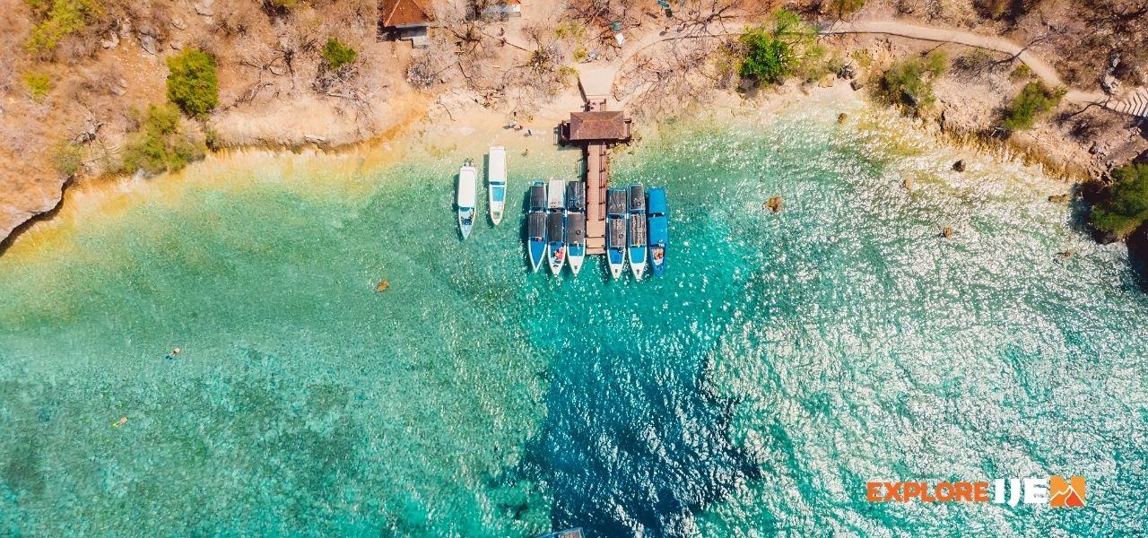 dermaga pulau menjangan Bali Barat