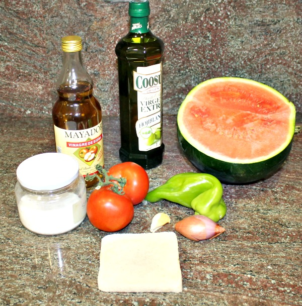 Ingredientes gazpacho de sandía