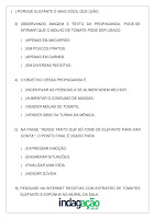 Atividade Anúncio do Extrato de Tomate Elefante; PDF Grátis