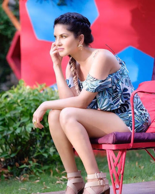 Sunny Leone In PSV Garudavega Movie Working Stills