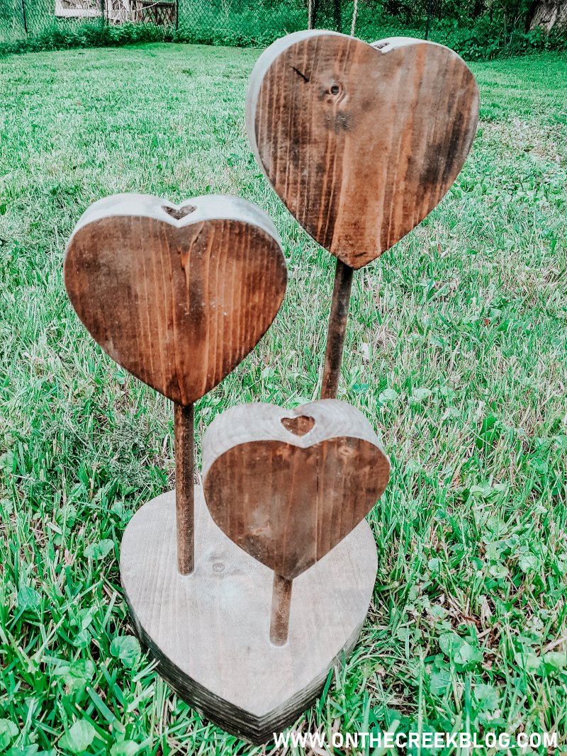 Rustic/chippy/distressed heart candle holder 'before' photo!