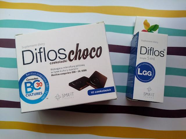 Diflos i Diflos Choco - preparaty probiotyczne dla dzieci i dorosłych .