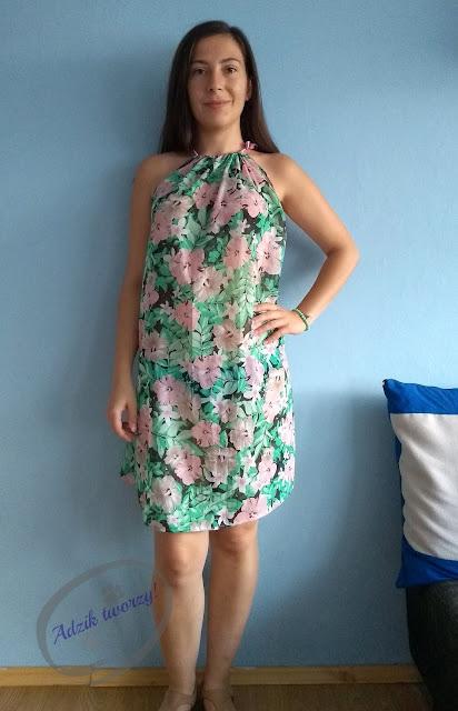 Adzik tworzy - DIY sukienka trapezowa jak uszyć