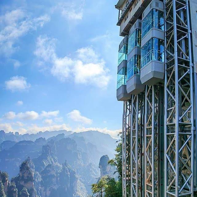 thang máy cao nhất thế giới 326 mét