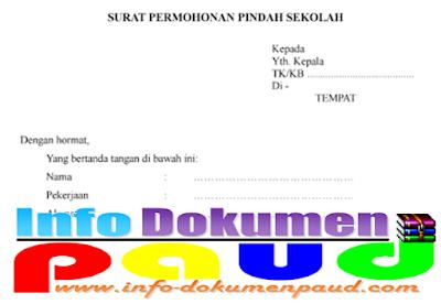 Download Contoh Surat Permohonan Pindah Sekolah Format Word