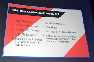 Funkcjonalności Google Glasses
