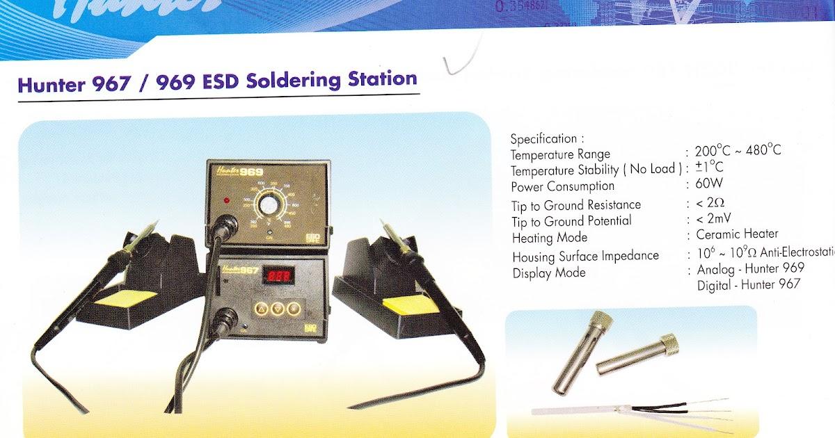 Pt Makro Jaya Hunter 967 969 Esd Soldering Station