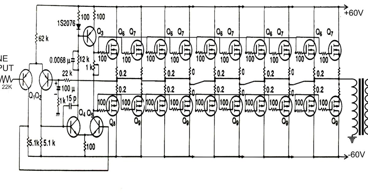 pure sine wave generator circuit schematic diagram