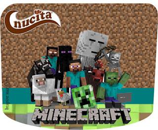 Etiqueta Nucita  para Imprimir Gratis de Fiesta de Minecraft.
