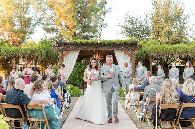 Shenandoah Mill in Gilbert AZ Wedding Photo of the ceremony by Micah Carling Photography