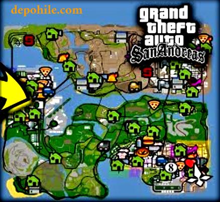 GTA SanAndreas Mobil Haritanın Hepsini Açma Hilesi 2021