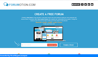 Forumotion homepage