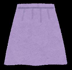 スカートのイラスト(紫)