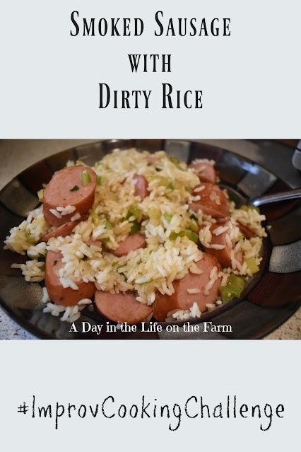Smoked Sausage with Dirty Rice pin