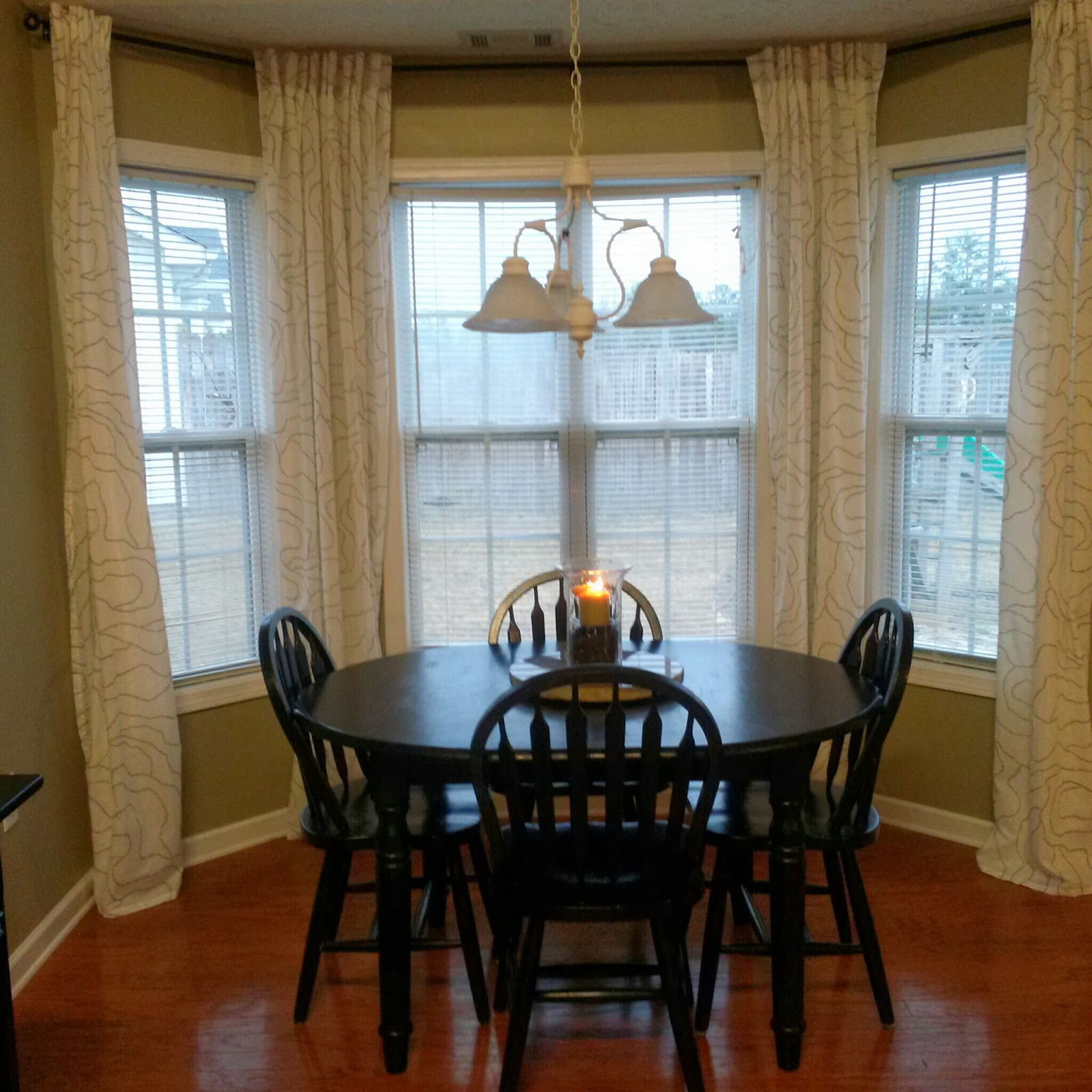 Is It Time For Coffee?: DIY Bay Window Curtain Rod