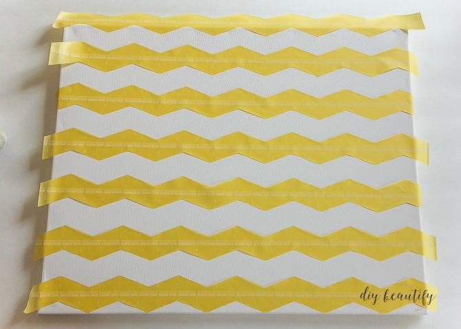 paint chevron stripes