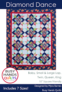 Diamond Dance by Myra Barnes of Busy Hands Quilts