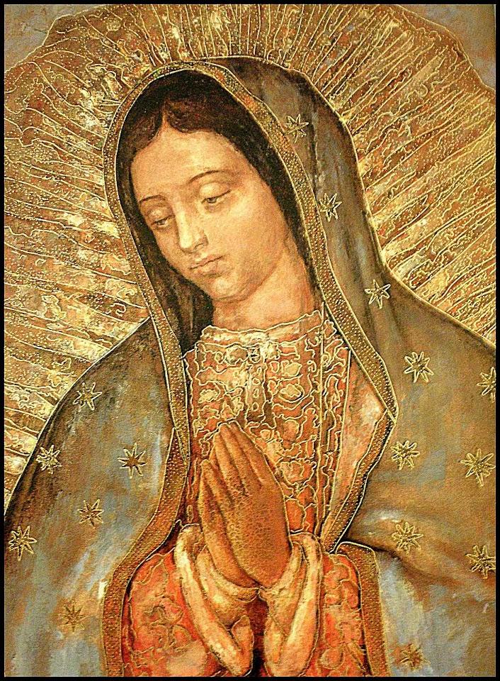 Nossa Senhora de Guadalupe, original na Basílica da Cidade de México