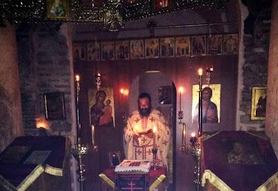 Τελέστηκε αγρυπνία και μνημόσυνο μοναχού στη Μονή Γηρομερίου (ΦΩΤΟ)