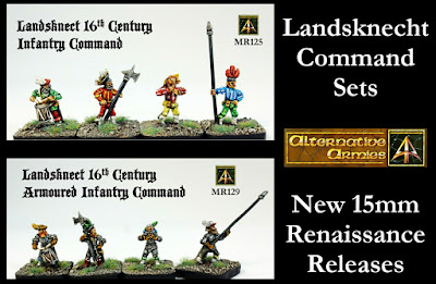 Landsknecht Command Set and Armoured Command Set 15mm released