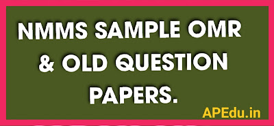 NMMS SAMPLE OMR - OLD  QUESTION PAPERS.