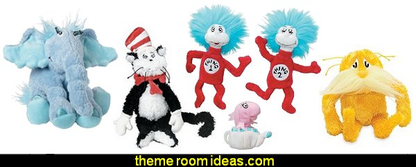 Dr. Seuss Plush Toys  Dr. Seuss Hat Shaped Wall Clock  Dr Seuss bedroom ideas - Dr.Suess bedroom decor - Dr Seuss Bedding - dr. seuss nursery - decorating ideas cat in the hat theme bedrooms - Dr Seuss wall decal stickers - DR SEUSS wall mural decal - Dr. Suess playroom ideas - Dr. Seuss Plush Toys