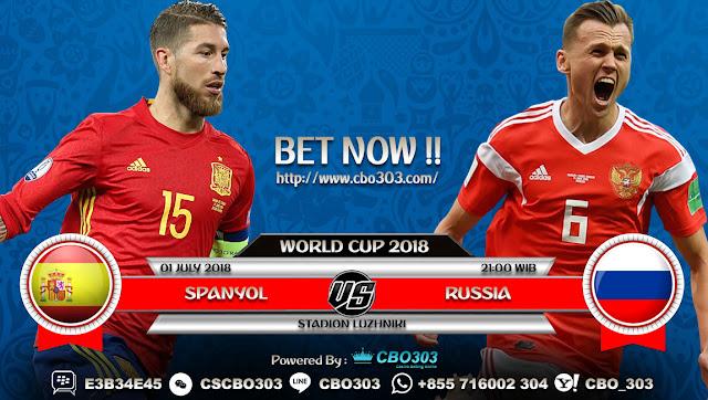 Prediksi Bola Piala Dunia 2018 Spanyol VS Russia 1 July 2018