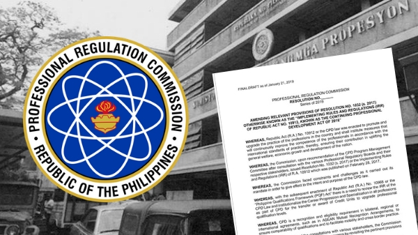 Final draft of new Implementing Rules and Regulations (IRR) of CPD Law