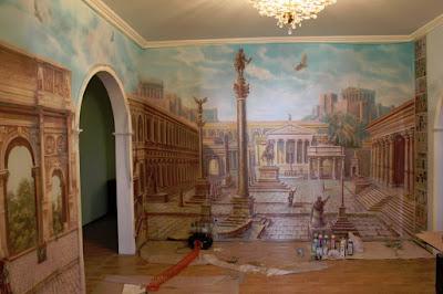 Аэрография стены Волгоград