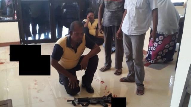 Kejadian Lagi, Polisi Tembak Rekannya Sendiri di Polsek Sirenja