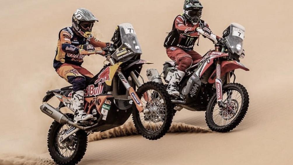Tres argentinos se ubican en el top 10 de motos tras la primera etapa del Dakar