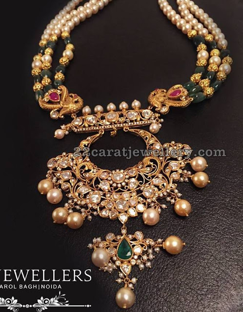 Beads Set with Chandbali Pendant by RC Jewellers