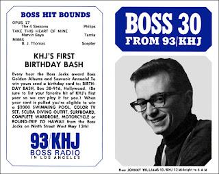 KHJ Boss 30 No. 44 - Johnny Williams