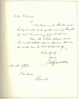 letter by James R. Doolittle with added approval by Lincoln