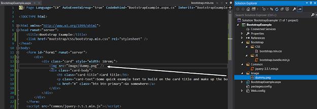 Web form after adding dummy image