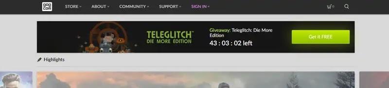 ثانياً : موقع GOG لتحميل الألعاب المدفوعة مجاناً