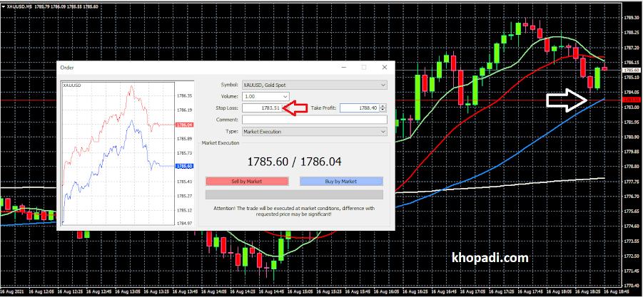 setup stop loss in forex meta trader software
