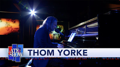 "Thee Always Enchanting & Provocative Thom Yorke Unleashes His Euphoric Single ""Daily Battles"" On The Late Show with Stephen Colbert!"