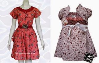 Batik anak perempuan modern fashionable