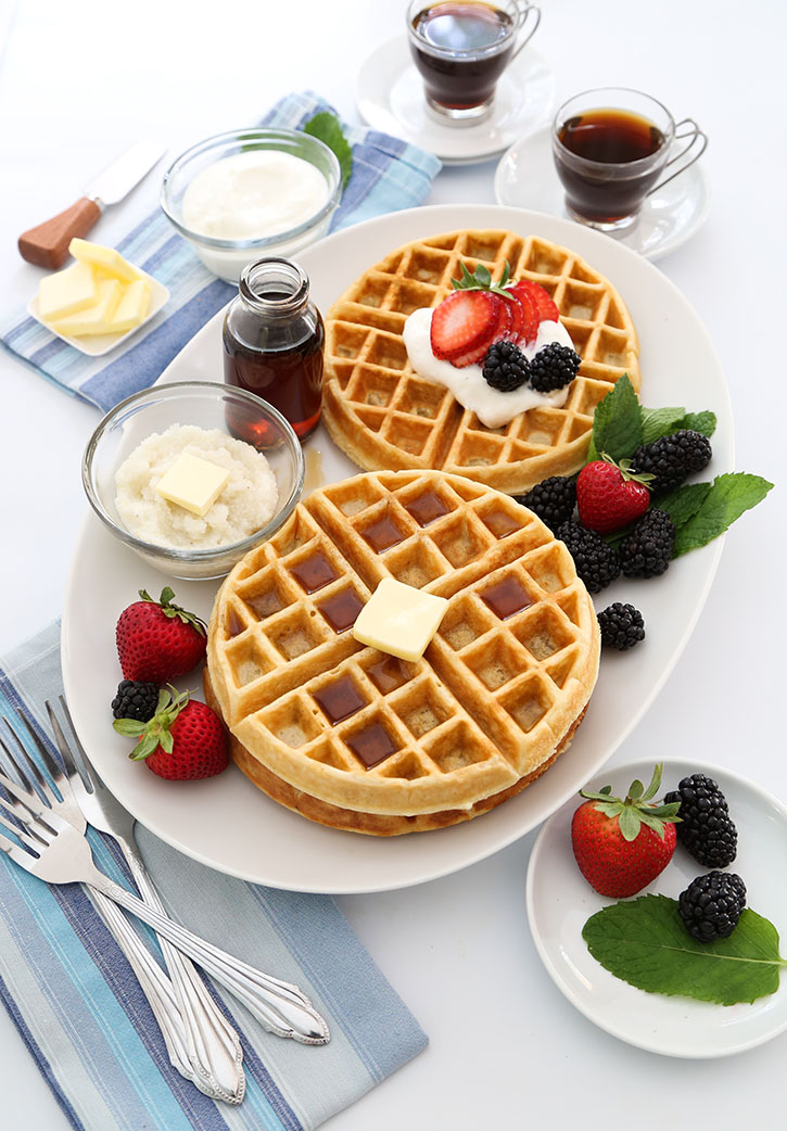 Buttermilk Grits Waffles Sprinkle Bakes