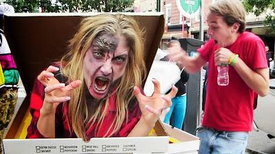 Candid camera: Zombie pizza!