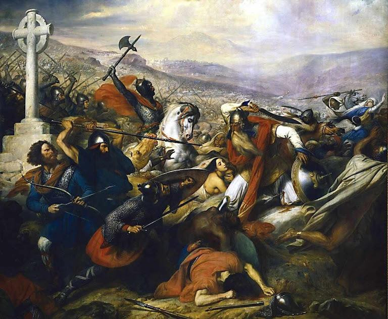 Carlos Martel em Poitiers.Charles de Steuben (1788–1856), museu de Versailles