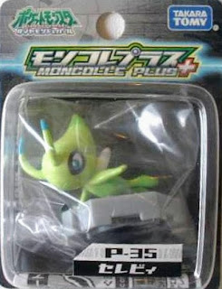 Celebi figure Tomy Monster Collection MC Plus series
