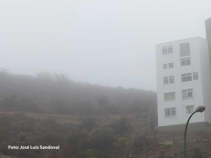 Amanece con niebla en Gran Canaria, domingo 4 octubre 2020