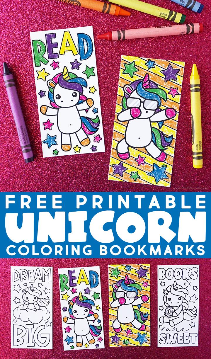 Free Printable Unicorn Coloring Bookmarks