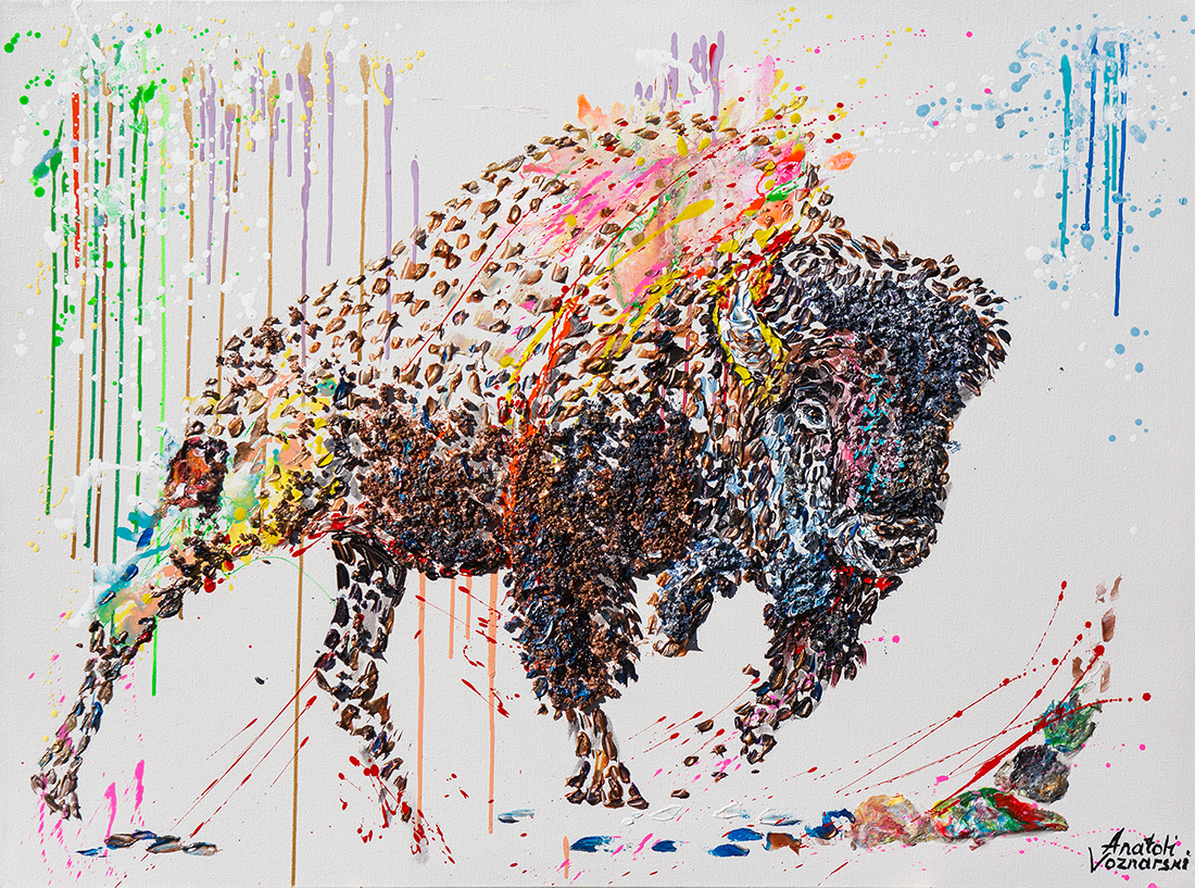 buffalo painting,buffalo unique texture, bizon painting,  buffalo voznarski, buffalo 3d artwork,  buffalo pop art, abstract buffalo painting, buffalo on canvas, buffalo mixed media ,buffalo 3d painting, buffalo acrylic on canvas,buffalo impasto,  buffalo 3d textured,