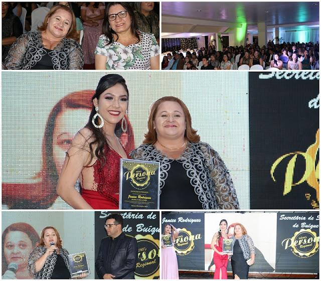 Entre as melhores secretarias Regional, Janice Rodrigues é destaque na entrega do Prêmio Persona em Arcoverde