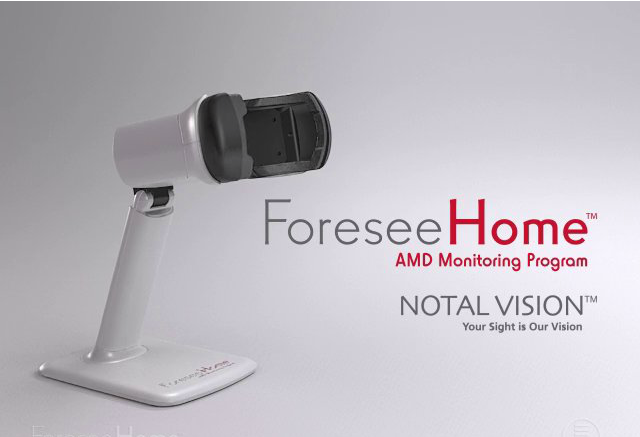 The Notal Vision Home monitoring device for dry AMD patients.