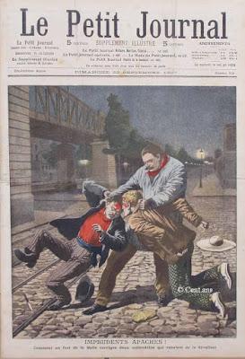 Les Apaches représentés défavorablement par le Petit Journal parisien en 1807
